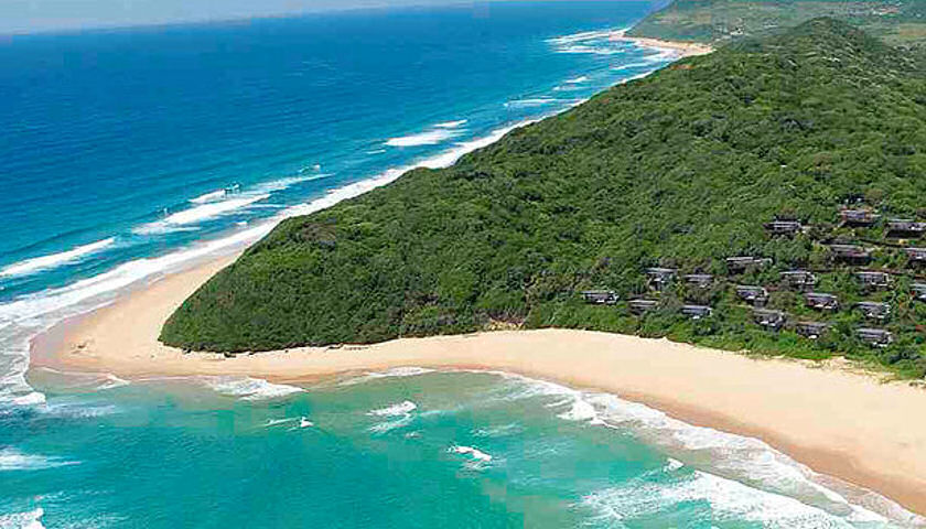 White Pearl resort Mozambique aerial