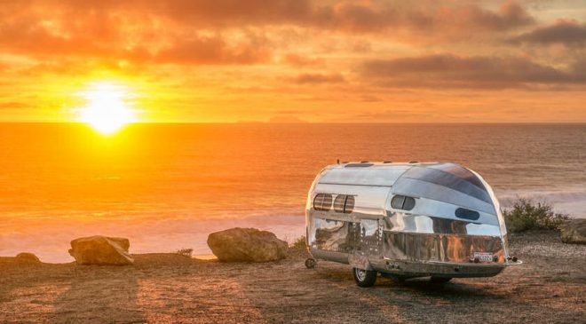 Go off-grid for a week with 30s-inspired aluminum trailer