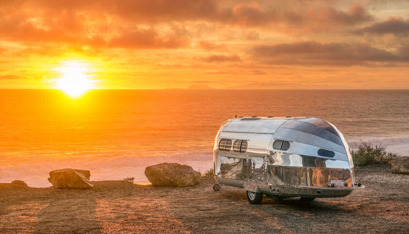 Bowlus Road Chief at sunset on beach