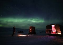 Watch the Northern Lights from Your Bed in a Mobile Hut