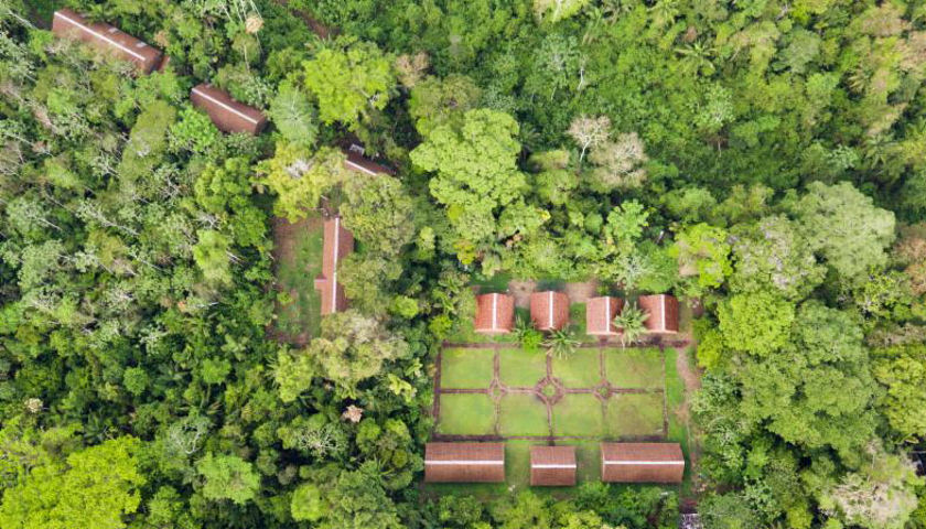 Aerial view of the Inkaterra Guides Field Station