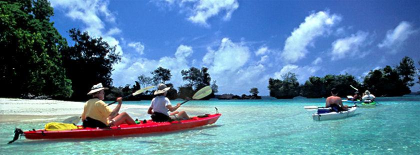 Palau kayaking
