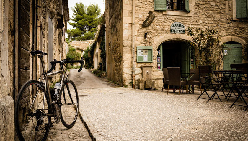 Provence village biking