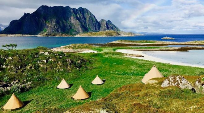 Glamping with White Sand & Turquoise Seas in the Arctic
