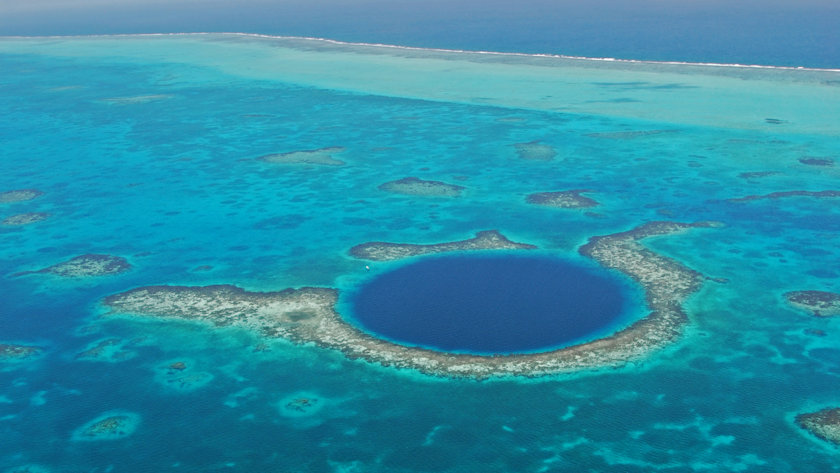 Belize Blue Hole aerial