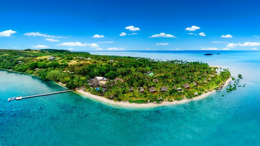 Cousteau Resort Fiji aerial view