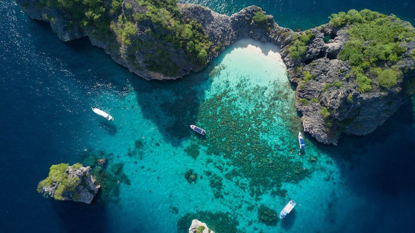Koh Haa aerial view