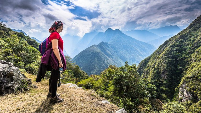 Inca trail hiking