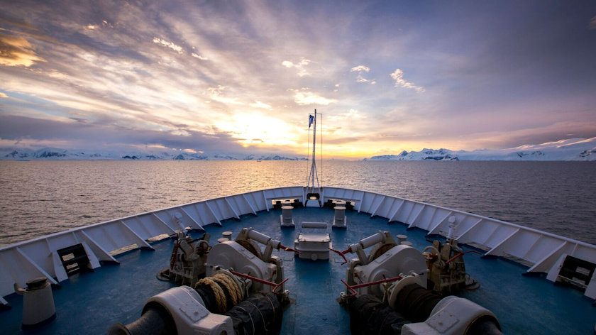 Antarctica sky
