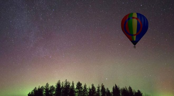Experience the Northern Lights in a Hot Air Balloon